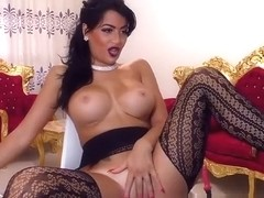 Amateur big tits arabian beauty in stockings showing pussy