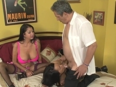 Best pornstars Nadia Night and Miya Monroe in fabulous mature, threesome adult clip