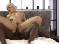 BLACK4K. Black on white sex action of Karol and her new black BF