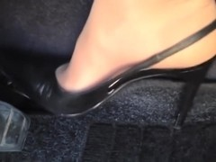 Wild gaspedal play with deluxe slingback pumps