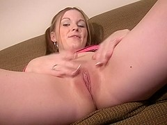 Incredible masturbation movie with shaved, solo girl scenes 1