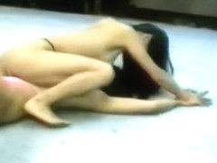 Busty Asian Catfight in ring
