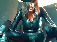 Cock Whore For Strapon Mistress in Black