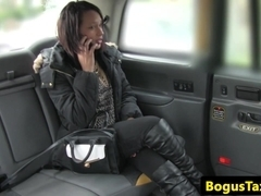 Asslicking ebony fucks cabbie to pay her fare