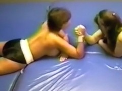 FTV Blake vs Mary Ann topless boxing and wrestling