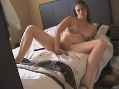Wife with big tits toying her vagina