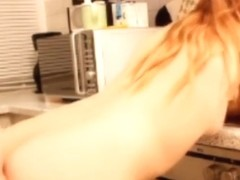 Angry german brother creampies his sister in the kitchen