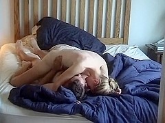 Natural blonde rides her guy in free homemade porn