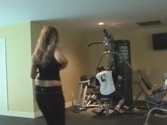 Betty Spanxxx does a workout and gives head