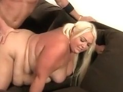 Super fat slut gets her chubby vagina fucked hard by stone-hard prick