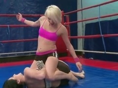 Nude fight club with Lucy Bell and Paige Fox