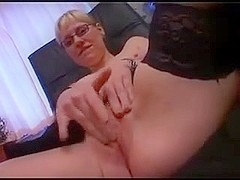 Sexy french secretary in all holes