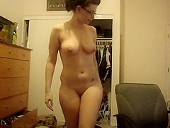 BJ from a super sexy nerdy busty gal