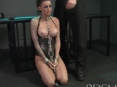 BDSM XXX Big breasted subs get chained up and fucked
