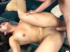 Blair Summers gag on thick dick