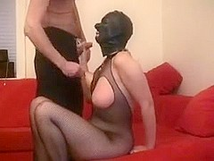 Submissive wife punished and drilled