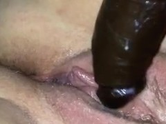 Black toy fun with a little licking n fucking