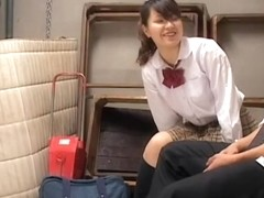 Naughty Jap sucks on a dong in spy cam Japanese sex video