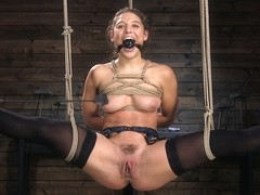 Abella Danger,The Pope in Hot Body Abella Danger Disciplined and Made to Cum in Rope Bondage!!  - .