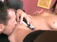 Russian pornstar office sex with facial