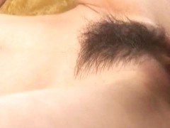 Miina Yoshihara has mouth and hairy twat pumped by stro