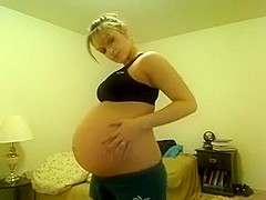 preggo girl dances 4