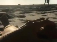 Wanking at the beach watching couple make out