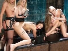 Lorelei Lee & Aiden Starr & Ashlynn Leigh & Jayden Lee & Amy Brooke in Extreme Electro Anal - Elec.
