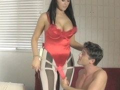 She-Devil Alexis Grace Uses Her Sex Slave in Chastity