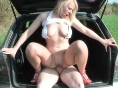 German Vamp Likes the Outdoor and Cock Together