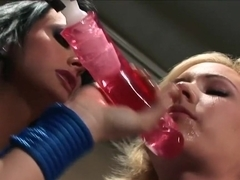 Hottest pornstars Alektra Blue and Hillary Scott in amazing threesome, big tits sex video