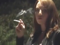 Pink Angel Smoking Candid 2