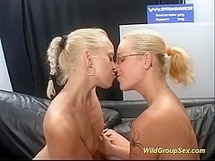 two german chicks in wild bukkake orgy