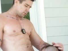 Aiden Hart & Trenton Ducati in Army Rub - GayRoom