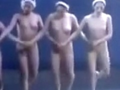 Beautiful nude ballet girls dance wonderfully
