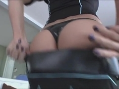 Shemale plays as a naughty cop loves anal sex