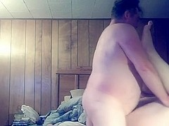 Mature large marvelous woman couple fucking at home