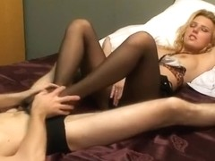 pantyhose footjob sex from amateur girl
