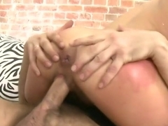 Gorgeous natural Beauty gets the gangbang of her dreams.