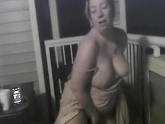 Mature MILF JOI on Balcony at Night