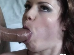 Cock munching babe gets fucked without mercy
