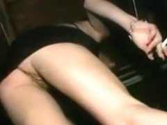 Alluring girls dancing and flashing upskirt in a club.