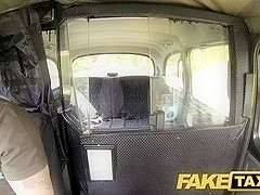 FakeTaxi: Biggest bushy cum-hole struggles with large shlong