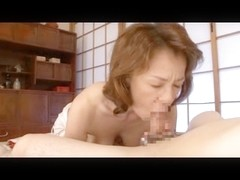 Sexy Asian Mature hottie sucks a dick like a whore