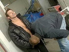 Two gay fellows fuck hard