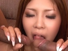 Hottest Japanese whore Miku Kohinata in Fabulous JAV uncensored Foot Job scene