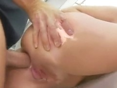 Big ass girl gaping with cumshot