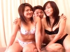 Crazy Japanese chick in Fabulous Threesomes, Blowjob JAV video