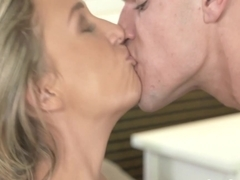 Pink panties milf fucked until creampie