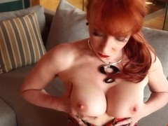 Hot busty mature masturbates outside before the delivery guy arrives - RedXXX